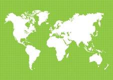 地球` s的地图 世界地图,大陆,传染媒介例证 库存图片