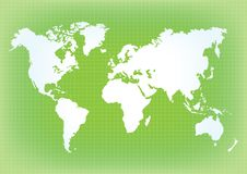 地球` s的地图 世界地图,大陆,传染媒介例证 图库摄影