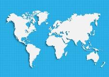 地球` s的地图 世界地图,大陆,传染媒介例证 库存照片