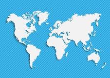 地球` s的地图 世界地图,大陆,传染媒介例证 免版税库存图片