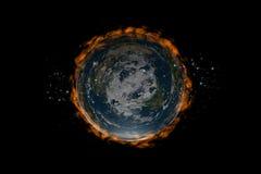 地球fire1平面的里面星形 免版税库存照片