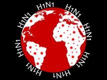 地球h1n1 免版税库存图片