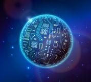 地球techno 库存照片