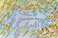地理乔治湾在加拿大 库存照片