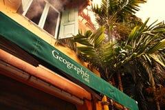地理学者咖啡馆 免版税库存图片