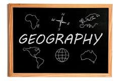 地理黑板 向量例证