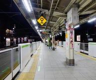 驻地的看法在晚上在大阪,日本 库存照片