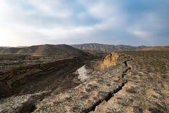 地皮的缺点,地震的后果 库存照片