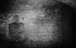 地窖和公山羊头骨 库存图片
