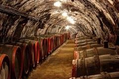地窖科涅克白兰地侧那里橡木喝酒 库存照片