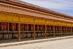 地藏车,拉卜楞喇嘛寺院 免版税库存照片
