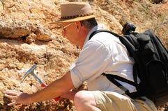 地质学家前辈 库存照片