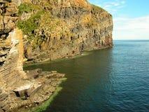 地质峭壁的形成 免版税库存照片
