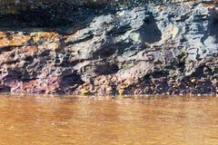 地质沉积层数 库存照片