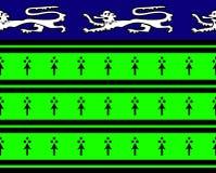地道中世纪纹章盾 免版税库存图片