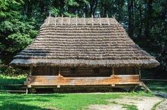 地道乌克兰木房子 库存图片