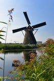 地道历史的风车在小孩堤防,联合国科教文组织世界遗产名录站点的一汇集 免版税库存照片