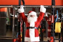 地道圣诞老人训练 库存图片