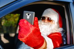 地道圣诞老人 库存照片