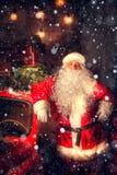 地道圣诞老人 免版税库存图片