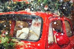 地道圣诞老人 图库摄影