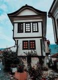 地道房子在一个旅游地方 库存照片