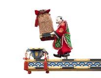 地道查出的日本牵线木偶 免版税库存图片