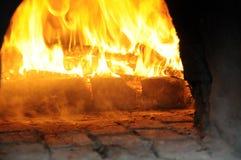 地道烤箱木头 免版税库存图片