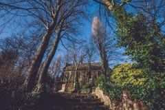 地道石教堂在跟特,比利时 免版税图库摄影