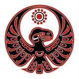 地道美国本地人黑红色老鹰 免版税库存图片