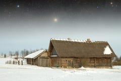 地道18世纪村庄在俄罗斯 这个图象的元素 图库摄影