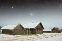 地道18世纪村庄在俄罗斯 这个图象的元素 库存照片
