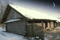 地道18世纪村庄在俄罗斯 这个图象的元素 库存图片