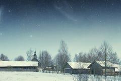地道18世纪村庄在俄罗斯 这个图象的元素 免版税图库摄影