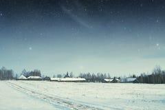 地道18世纪村庄在俄罗斯 这个图象的元素 免版税库存照片