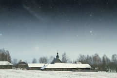 地道18世纪村庄在俄罗斯 这个图象的元素 免版税库存图片