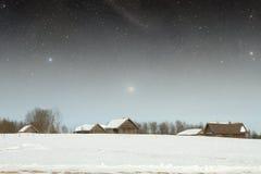 地道18世纪村庄 免版税图库摄影