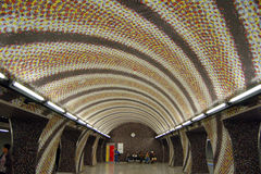 地铁中止在布达佩斯 免版税库存图片