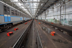 地铁修理集中处 库存照片