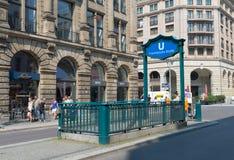地铁入口在柏林 免版税库存图片