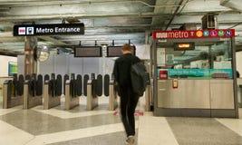 地铁入口,旧金山,鲍威尔街驻地 库存图片