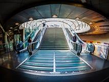 地铁出口Gare圣徒Lazare在巴黎 免版税库存照片