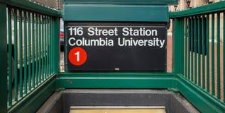 地铁叹气哥伦比亚大学 免版税库存图片