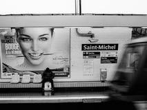 地铁圣米歇尔 免版税库存照片