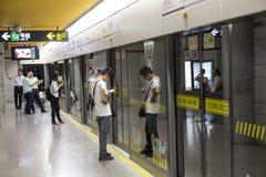 地铁在上海,中国 免版税库存照片