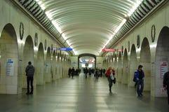 地铁在圣彼德堡 免版税库存照片