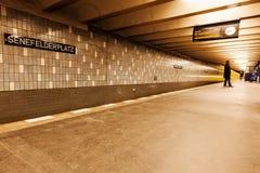 地铁在柏林,德国 库存图片