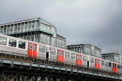 地铁在汉堡 免版税库存图片
