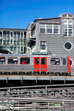 地铁在汉堡 免版税库存照片