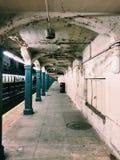 地铁在纽约 库存照片